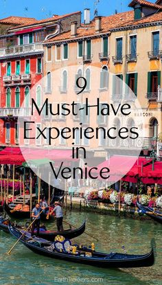 Best Things to do in Venice, Italy. St. Mark's Square, ride a gondola, wander…