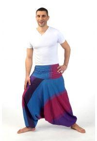 Sarouel élastique homme femme Pratikchha - FZ1576 - 100% coton léger et doux du Népal tissé comme du lin. Mi-saison printemps été.