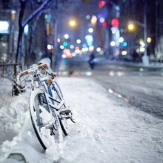 Bike in the Snow (by Miles)
