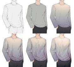 Digital Painting Tutorials, Digital Art Tutorial, Art Tutorials, Clothes Draw, Drawing Clothes, Drawing Reference Poses, Drawing Poses, Shirt Drawing, Digital Art Beginner