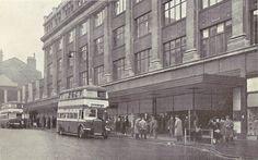 Bull Street, Grey's Store and Birmingham Buses - Birmingham, UK, c1945   by mikeyashworth