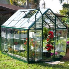 Palram Snap & Grow 6 x 8 ft. Greenhouse - Additional Features Gorgeous greenhouse is easy to assemble Window features weather-stripping Adjustable roof ventilation keeps plants healthy H...