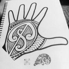 Maori tattoo hand design