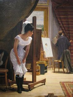 Longing 1899 Museum Art José Ferraz de Almeida Júnior Canvas Print Saudade