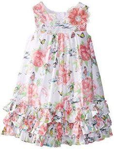 Laura Ashley London Little Girls' Butterfly Garden Dress, Multi, 5 Toddler Dress, Toddler Outfits, Baby Dress, Kids Outfits, Little Dresses, Little Girl Dresses, Girls Dresses, Laura Ashley, Floaty Summer Dresses