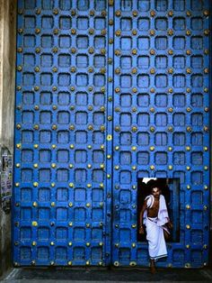 Indian Door Blue