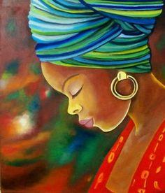 pinturas al oleo de mujeres africanas para decorar Más