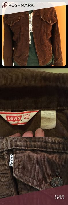 🔥MARKDOWN🔥Vintage Levi's Brown Corduroy Jacket Some things never go out of style!  Jean jacket style but classic brown corduroy! Levi's Jackets & Coats Jean Jackets