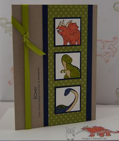 Dinoroar Card and Gift Wrap Joanne James, Independent Stampin' Up! Demonstrator  www.blog.thecraftyowl.co.uk