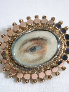 Rare Male Lover's Eye Brooch, c. 1860