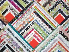 Button Box Selvage Quilt Pattern, Quilt Pattern, Upcycle, Recycle, Log Cabin Pattern...