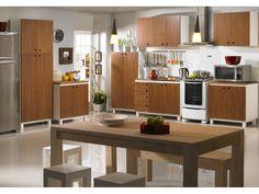 Conjunto de Cozinha Cheddar | Cozinha | Meu Móvel de Madeira