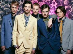 Left to Right: Joes wears tie Gant, shirt and suit Primark. Akos wears shirt and suit Marciano by GUESS. Aleksandr wears shirt Wrangler and suit Primark. Patrik wears suit Primark, shirt Gant and bow-tie Daniel Cremiuex. Armin wears shirt Fay, tie Daniel Cremieux and suit Antony Morato.