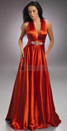 Burnt Orange Fall Long Bridesmaid Dresses Nika 2010 Prom Dress 3406 Evening