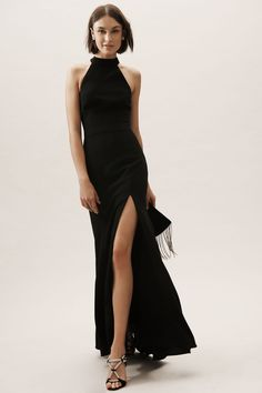 Wondering what to wear to a black-tie wedding? Shop our favorite black-tie wedding guest dresses below. Black Bridesmaids, Black Bridesmaid Dresses, Bridal Dresses, Black Tie Dresses, Dress Black, Bridesmaid Pictures, Black Dress Outfits, Dresses Near Me, Next Dresses