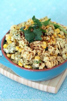 Mexican Corn Pasta Salad Recipe (Cinnamon Spice & Everything Nice)