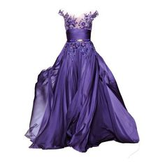 DRESS  liked on Polyvore. Ravens purple gown. Wish I had a reason to wear this...