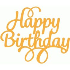 Silhouette Design Store - View Design #49633: happy birthday script swirl
