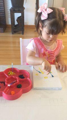 Pintando com cotonete