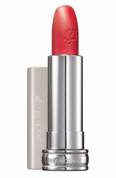 coral red lipstick by Lancome