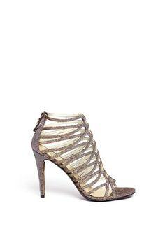 73dec7794 STUART WEITZMAN - Loops metallic caged sandals