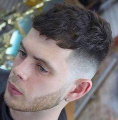 Wavy Bangs with Fade Side - Caesar Haircut