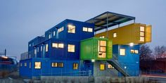 Rhode Island Office Building Built With Shipping Containers Shipping Container Office, Used Shipping Containers, Container Shop, Cargo Container, Container Buildings, Container Architecture, Front Door Design, Building Structure, Sustainable Design