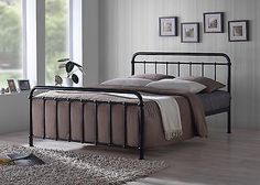 New Miami Traditional Hospital Style 5ft King Size Black Metal Bed Frame in Home, Furniture & DIY, Furniture, Beds & Mattresses   eBay
