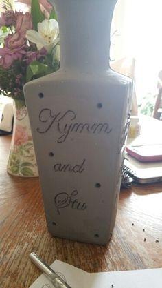 Working on a vase for my wedding #wedding #weddingdecor #custom #personalized