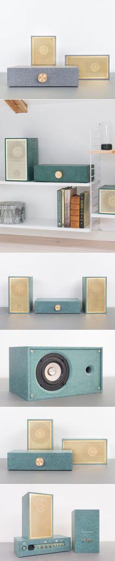 Stunningly Simple: Osloform Serpentine Stereo - Design Milk