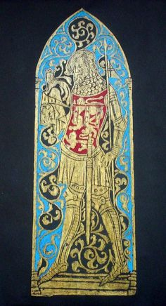 Brass Rubbing.. King Henry II Henry by wondersofbritain on Etsy