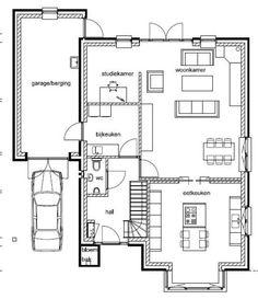 Tekeningen - De bouw aan de Bernagie te Meppel Dream House Plans, House Layouts, Furniture Inspiration, Planer, Tiny House, Architecture Design, New Homes, Floor Plans, House Design