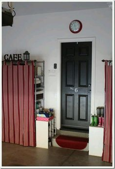 Beautiful ... Shelf Carts At Any Home Improvement Store U0026 Buy Some Cute Yet  Inexpensive Curtains Hang Them To Cover Ur Shelves. And Paint The Door  Going Into Ur House ...