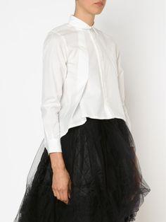 Comme Des Garçons Noir Kei Ninomiya Asymmetric Hem Shirt - Forty Five Ten - Farfetch.com