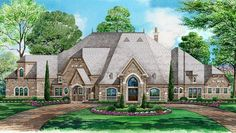 House Plan 5445-00183 - Luxury Plan: 7,670 Square Feet, 5 Bedrooms, 6.5 Bathrooms