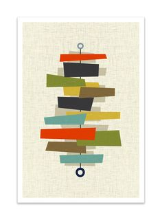 FOUNDATION Giclee Print Mid Century Modern Danish by Thedor