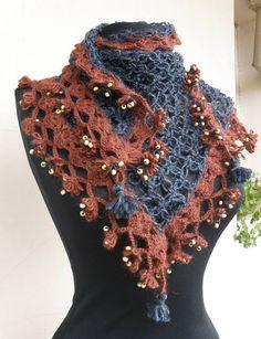 crochet shawl - wool