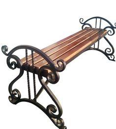 качели,лавочки,скамейки Wrought Iron Garden Furniture, Wrought Iron Bench, Wrought Iron Decor, Iron Furniture, Steel Furniture, Industrial Furniture, Carport Designs, Metal Gates, Barn Wood Projects