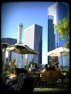 Day B: Food/drinks/happy hour in downtown LA with a great view. The Perch (448 S Hill St Los Angeles, CA 90013) or The Standard ( 550 S Flower St Los Angeles, CA 90069) are great options