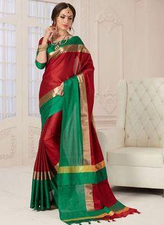 2194fa82d65 Shop Online Maroon Silk  FancySilkSaree  Chennaistore.com Casual Saree