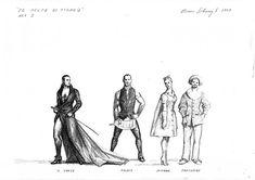 Bruno Schwengl Le Nozze Di Figaro Copenhagen Costume Design, Copenhagen, Costumes, Art, Apparel Design, Dress Up Clothes, Kunst, Men's Costumes, Suits