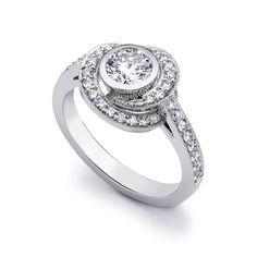 Diamond & Platinum Eternal Knot Engagement Ring, David Marshall