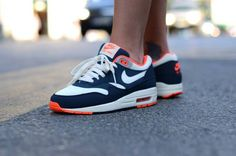 Nike Air Max 1 Essential - Total Crimson - Sail & Squadron Blue | NikeAirMax1.com