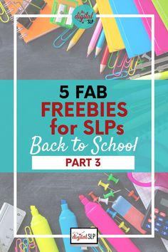 This is part 3 of my back-to-school freebies for SLPs! This roundup post features 5 amazing back to school speech and language freebies, including ice breaker games, interactive books, social skills, speech crafts, and more. | The Digital SLP