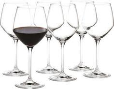 Stilfulde Holmegaard Perfection rødvinsglas til det flotte middagsbord. Smuk og lækkert til en vin