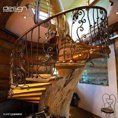 One of a kind tree staircase!!