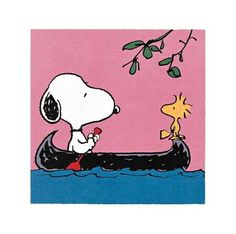 snoopy canoe - Google Search