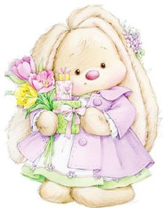 Reminds me of Dana. The sweetest. Tatty Teddy, Baby Painting, Fabric Painting, Bunny Art, Cute Bunny, Cute Images, Cute Pictures, Animal Drawings, Cute Drawings
