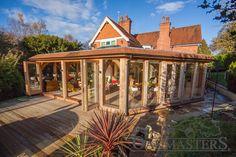 Modern glazed orangery style extension - Oakmasters