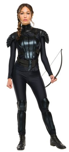 Deluxe Katniss Everdeen Mockingjay Ladies Costume - Deluxe Katniss Everdeen Mockingjay Ladies Costume with the officially licensed Katniss Everdeen costume from Hunger Games: Mockingjay 2. It comes with shirt and pants with amour. Garner hope for Halloween, movie night or your own Hunger games. #YYC #Calgary #costume #KatnissEverdeen #HungerGames #TheHungerGames